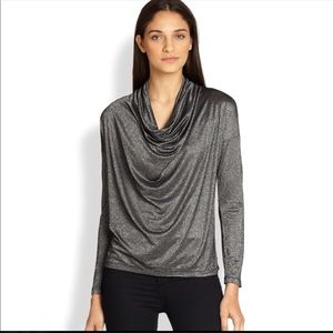 Nordstrom Splendid l Metallic Cowl Top